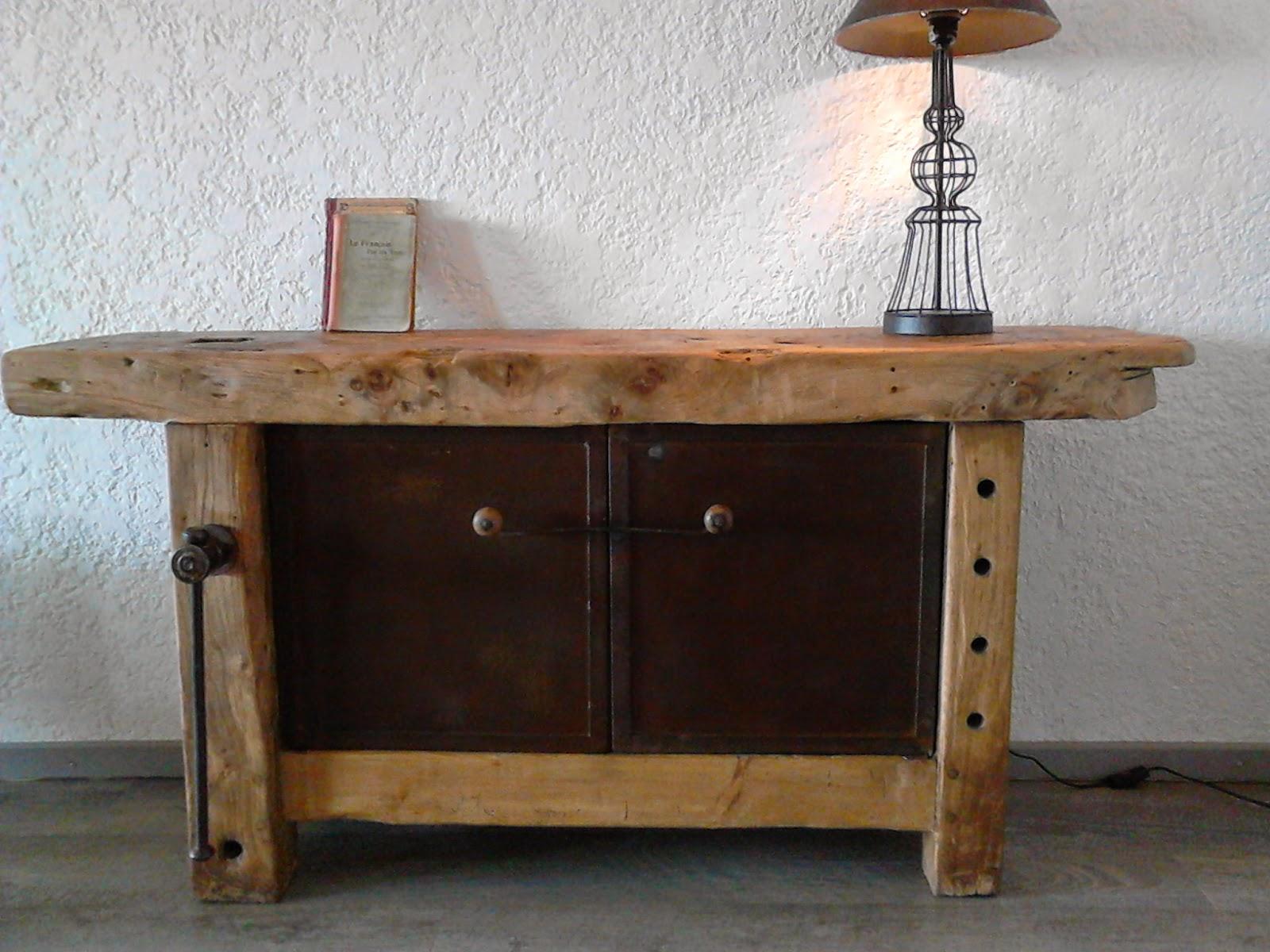 Meubles et objets de d coration style industriel etabli de menuisier - Restauration meuble industriel ...