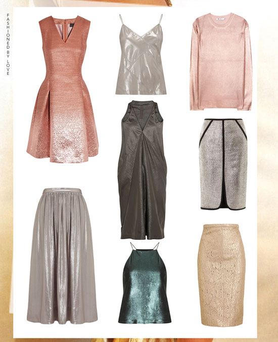 Spring/Summer 2014 trends, metallic trend, must-have season pieces, shopping
