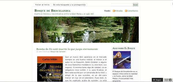 Bosque de Brocelandia - Literatura