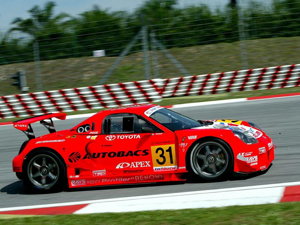 Toyota MR2, roadster, MR-S, MK3, ZZW30, wyścigi, sport, tor wyścigowy, japońskie, rywalizacja, zawody samochodowe, Super GT, JGTC, #31 Super Autobacs Apex Racing A'PEX