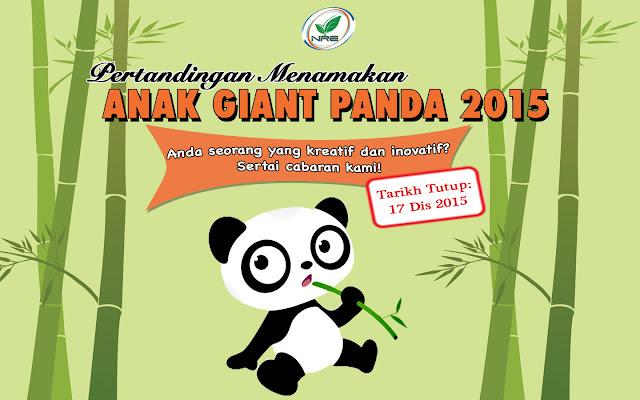 Pertandingan Menamakan Anak Gaint Panda 2015