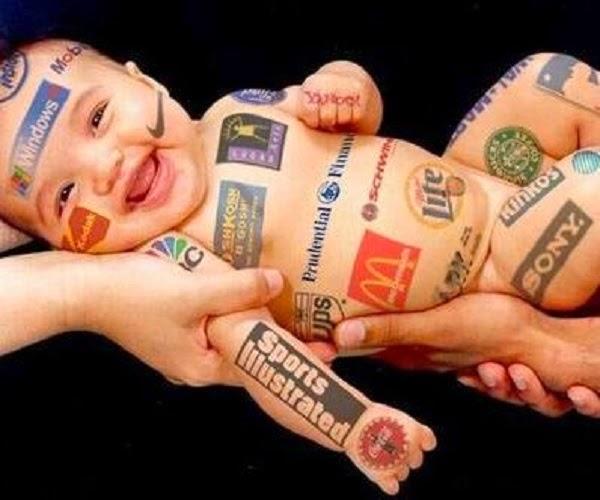Photo bébé drôle publicité