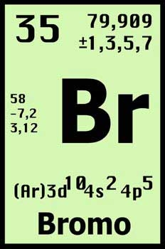 Elementos de la tabla peridica qumicas estado natural es un elemento qumico de numero atmico 35 situado en el grupo de los halgenos de la tabla peridica de los elementos urtaz Image collections