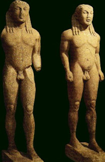 Kouros. Figuras Masculinas. Escultura Griega. Grecia. Escultores griegos. Escultura en Grecia Arcaica