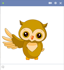Owl emoticon