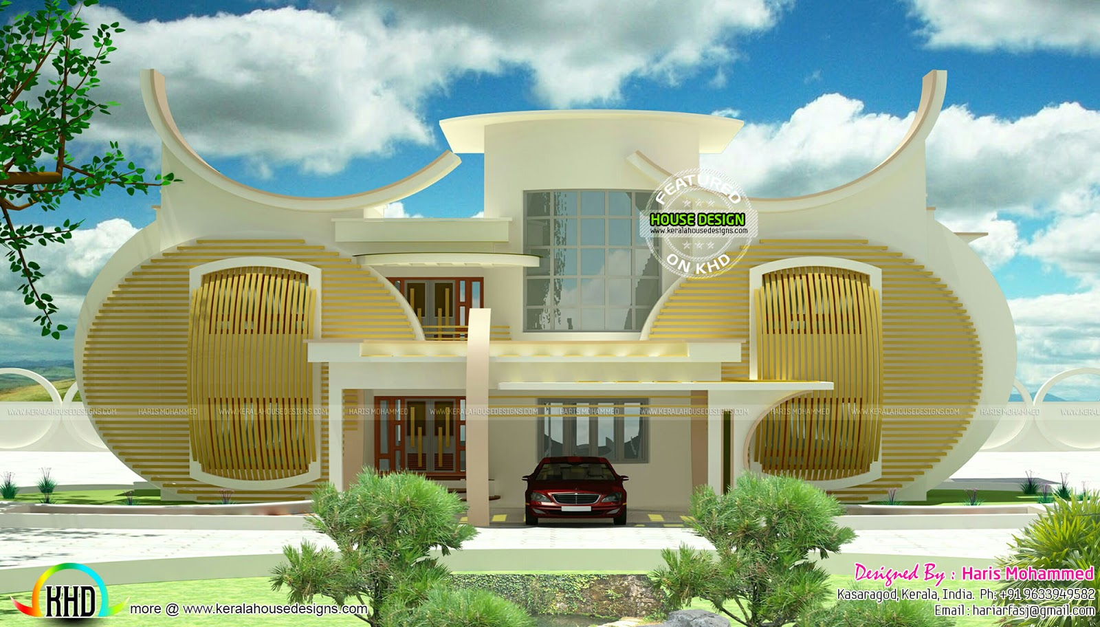 Strange circular home design kerala home design and for Design this house