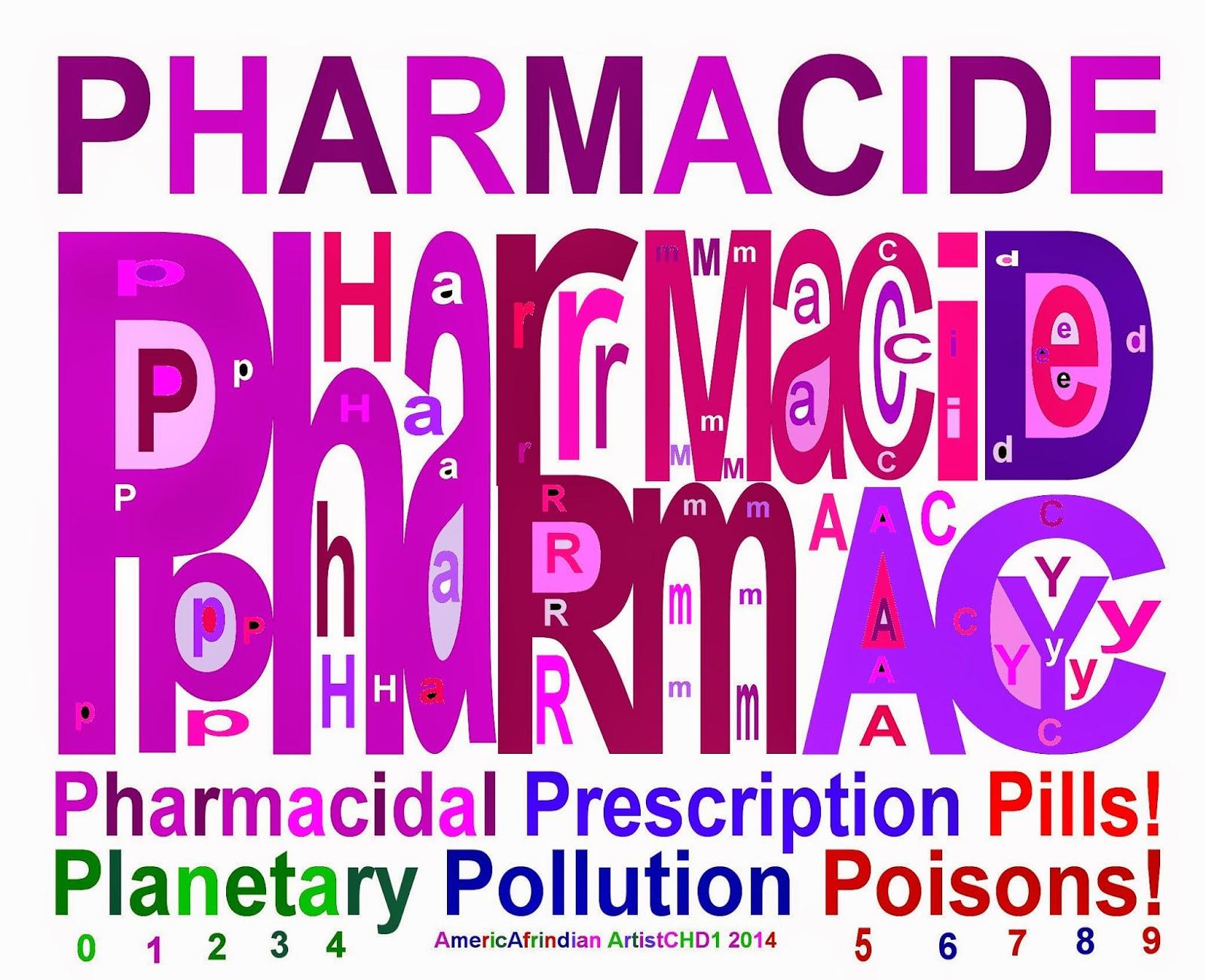 PHARMACIDE - Pharmaceutical Prescription Pill Poisons-Pollution!!