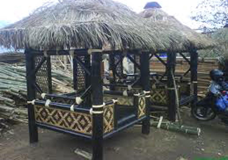 Desain Rumah Gazebo Saung Minimalis Dari Bambu Dan Kayu Agar