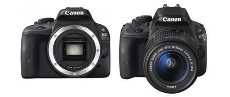 Fotografia della Canon EOS 100D/EOS-b  con e senza ottica