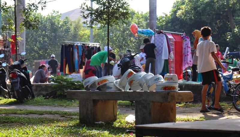 taman udayana, car free day, PKL Mataram