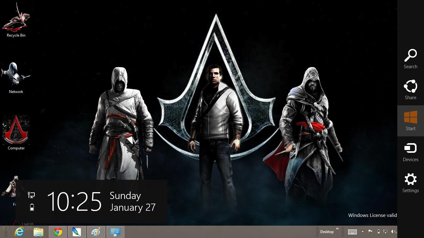 Как сделать assassins на весь экран 772