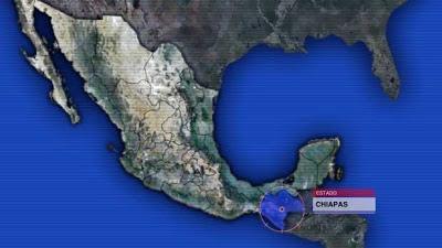 Sismo 5,3 grados sacude Chiapas, 10 de mayo 2013