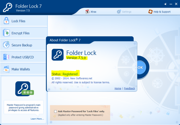 19 Nov 2014 Folder Lock 7.2.2 Serials Keys and Crack Full Version. . This