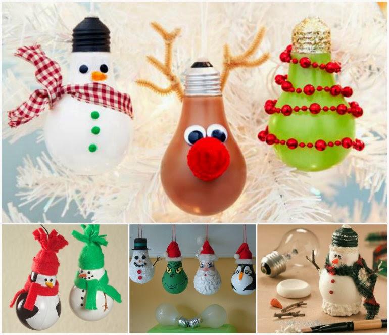Christmas Decorations With Light Bulbs