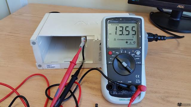 Napięcie ładowania baterii po wymianie kondensatora