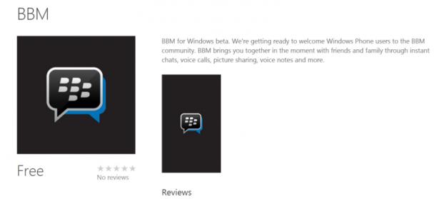 BBM para Windows Phone ha entrado en beta privada, el mes pasado les informamos que la aplicación estaría disponible este mes, BlackBerry ha seguido trabajando para llevar la aplicación a los usuarios de la plataforma Windows. Si se le invita actualmente a la beta de BBM para Windows Phone puede descargarlo a través del teléfono Windows Store, sin embargo es posible que tenga que esperar un poco más de tiempo si no fueron invitados a la prueba beta privada. Descripción App: Beta de BBM para Windows Phone. Nos estamos preparando para dar la bienvenida a los usuarios de Windows Phone