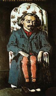 Поль Сезанн. Портрет Ашила Ампрера. Ок. 1868.