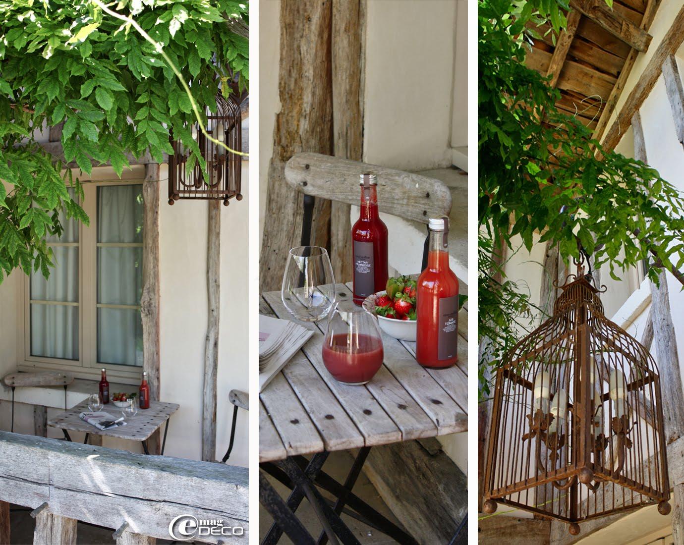 Le porche de La Maison du Lièvre, Les Sources de Caudalie, établissement hôtelier près de Bordeaux