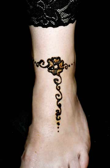 Mehndi Anklet Designs : Ankle tattoo designs new clothes tatto baeuty