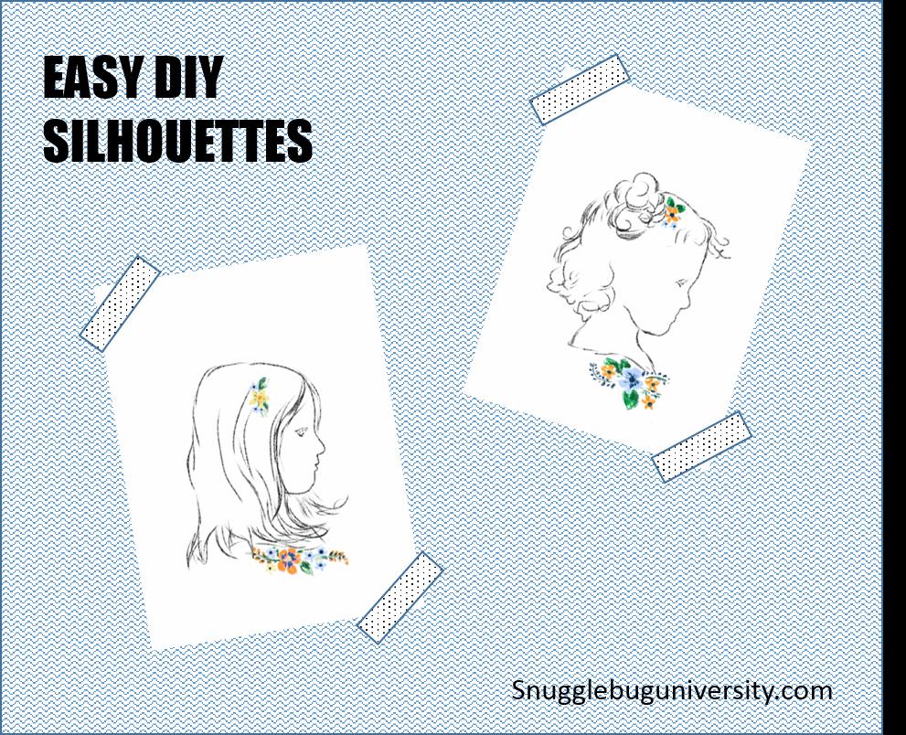 http://www.snugglebuguniversity.com/2014/12/easy-diy-silhouettes.html