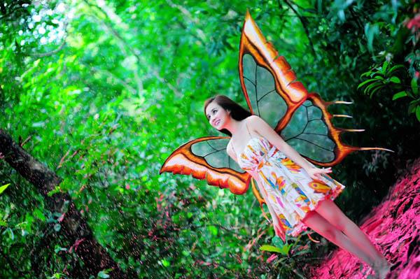 Vy Oanh beautiful butterfly fairy