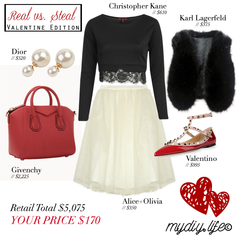REAL vs. STEAL // Frugally Fashionable Valentine's Day outfit for under $200!