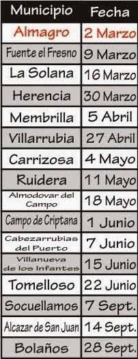 Calendario Open 2014