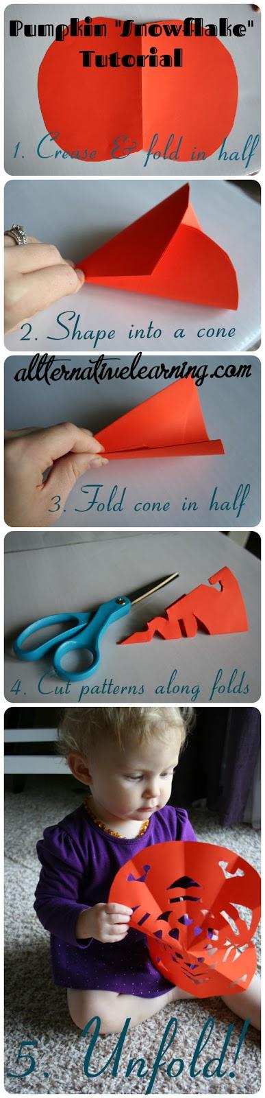 How to make paper craft pumpkins