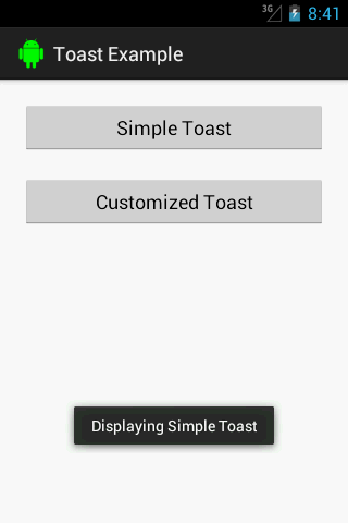 Android Simple Toast Message