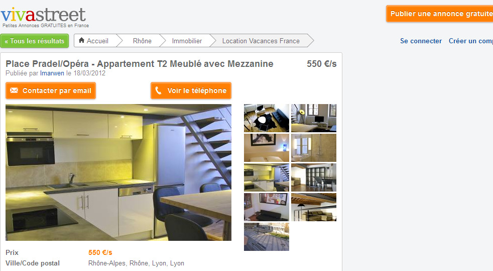 Location Appartement Lyon Vacances