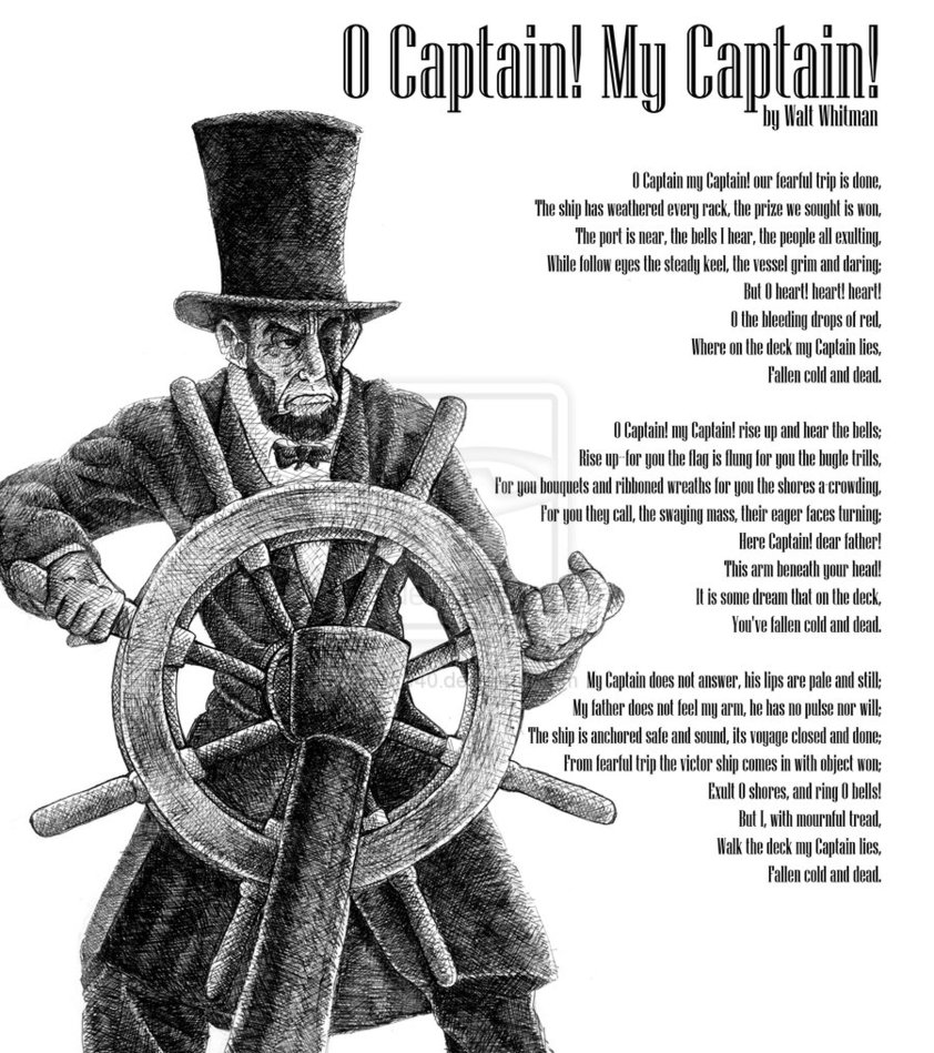 o captain my captain by walt whitman summary