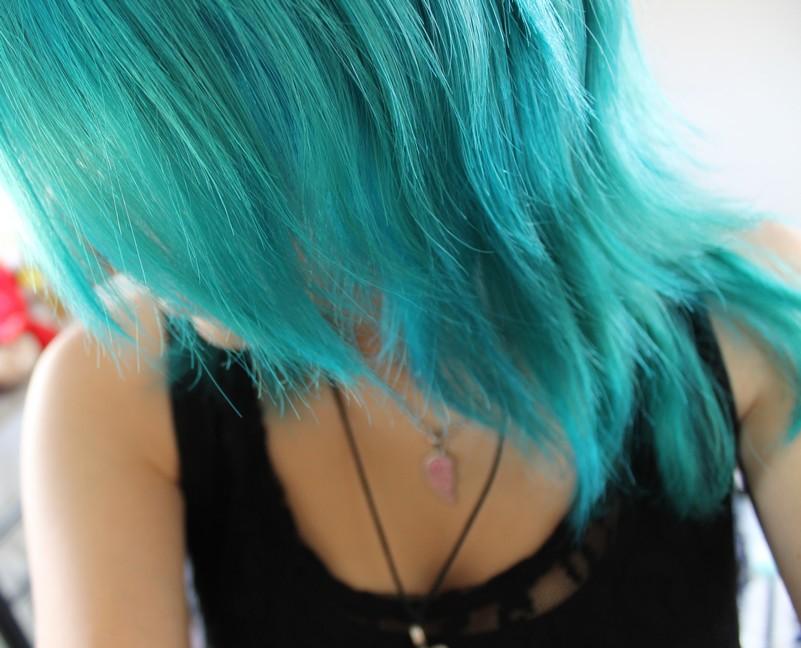 Blau Lila Haare Elegant Bunte Haare Grelle Regenbogen Zarte Pastell