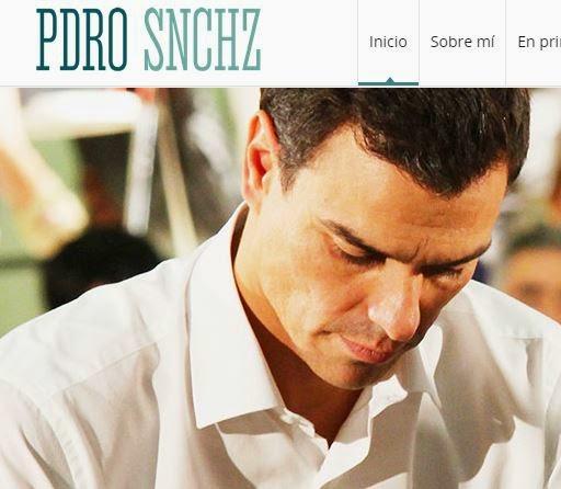 Polémica con la falta de vocales en la web de Pedro Sánchez