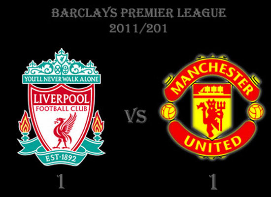 result manchester united vs liverpool