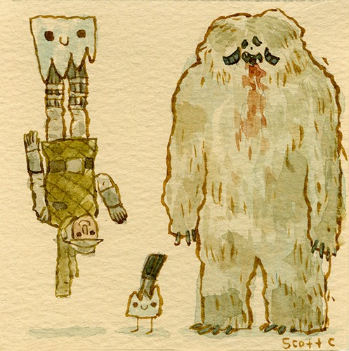 Scott C Great Showdowns Star Wars Luke and Wampa
