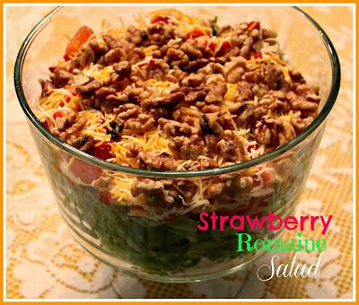 ... : Strawberry Romaine Salad with Honey Mustard Poppy Seed Dressing