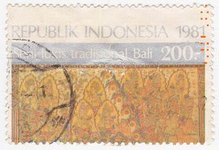 perangko Seri Seni Lukis Tradisional Bali 1981 atas