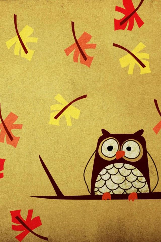 Iphone+4s+Cute Owl En Güzel İphone 4s Resimleri