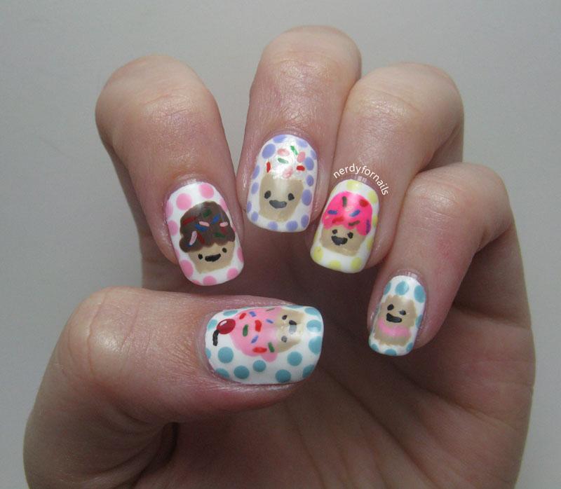 Cupcake Nails: Nerdy For Nails: Cupcake Nails