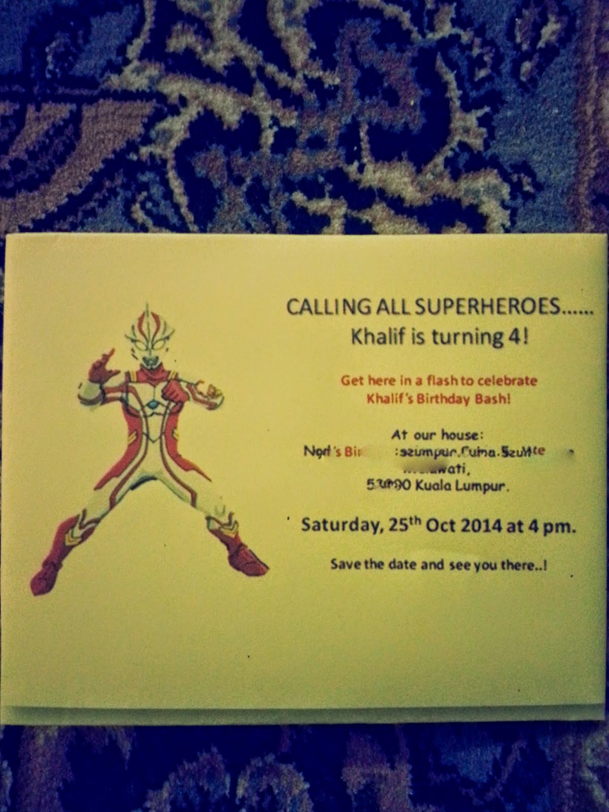 Ultraman birthday invitation card template images invitation other ebooks library of ultraman birthday invitation card template stopboris Images