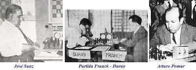 José Sanz, partida de ajedrez Franck - Durao y Arturo Pomar