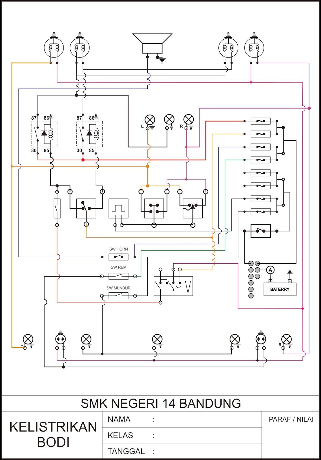 Tpbo smkn 14 bandung wiring diagram kelistrikan bodi wiring diagram kelistrikan bodi ccuart Gallery