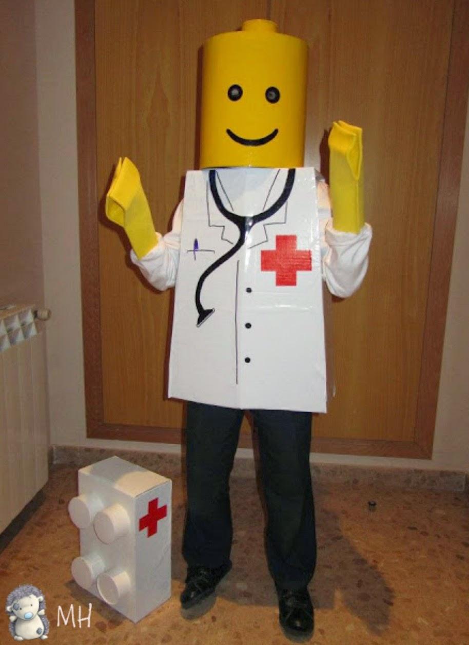 Manos de disfraz de Lego