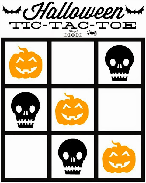 Printable Halloween Tic-Tac-Toe @ Blissful Roots