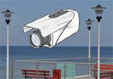 Kamera - widok na plażę
