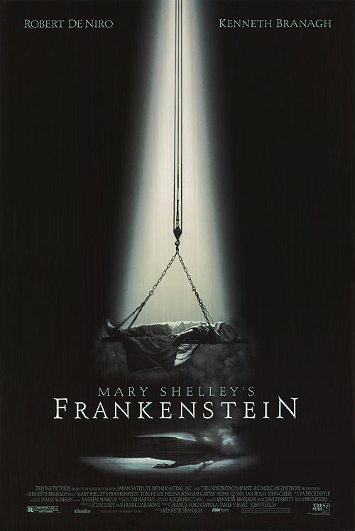 a review of the kenneth branagh directed motion picture of mary shellys frankenstein Kenneth branagh directs this amazing telling of mary shelly's original book the visuals are amazing, de niro plays the monster to oscar calibur quality, and branagh directs himself as victor frankenstein.