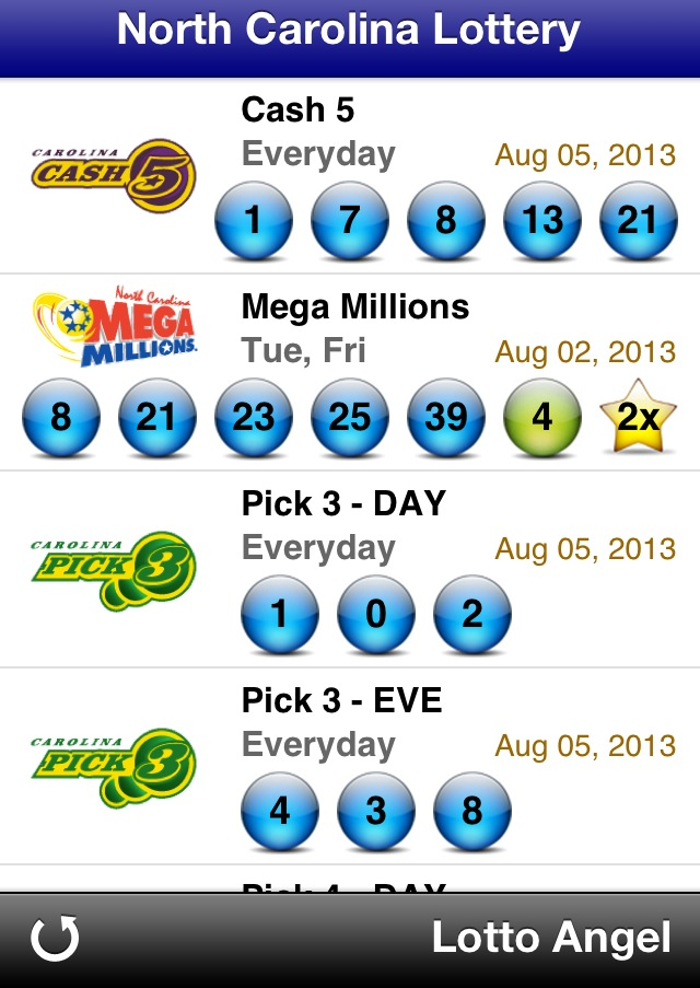 mega millions powerball lottery results nc