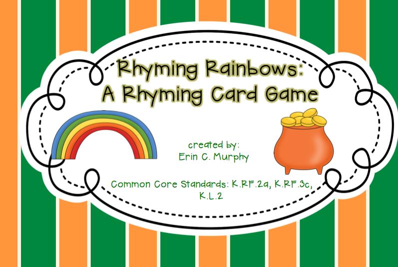 http://www.teacherspayteachers.com/Product/Rhyming-Rainbows-1155656