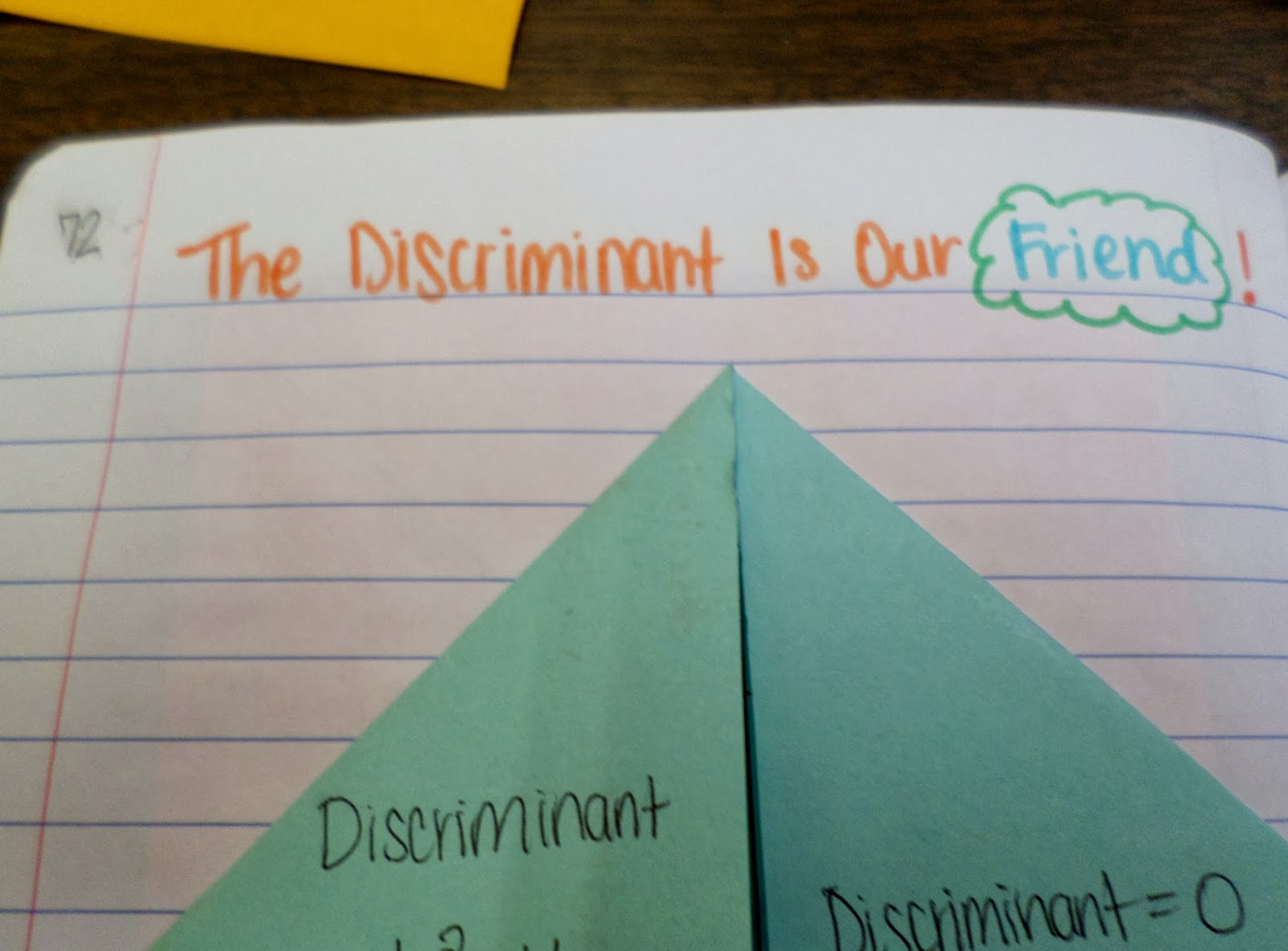 Math = Love: The Discriminant Is Our Friend!