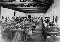 Interior de uma fábrica do séc.XIX